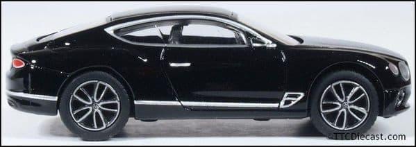 OXFORD 76BCGT003 Bentley Continental GT Onyx Black, OO Gauge